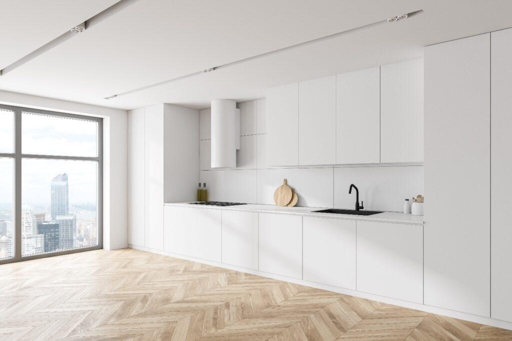 Modern White Kitchen Cabinets